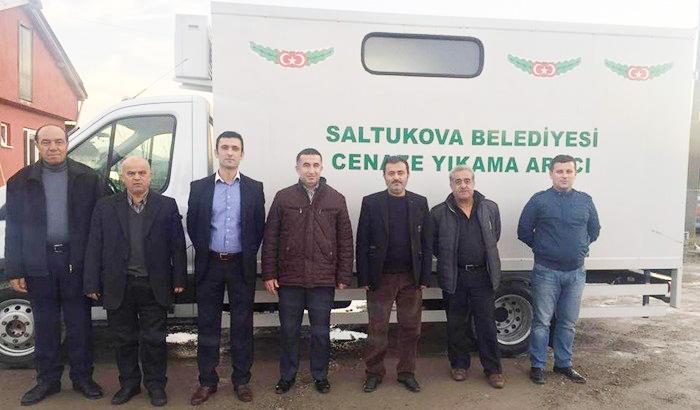 Resim Saltukova'ya Cenaze Nakil ve Yıkama Aracı Hibe Edildi